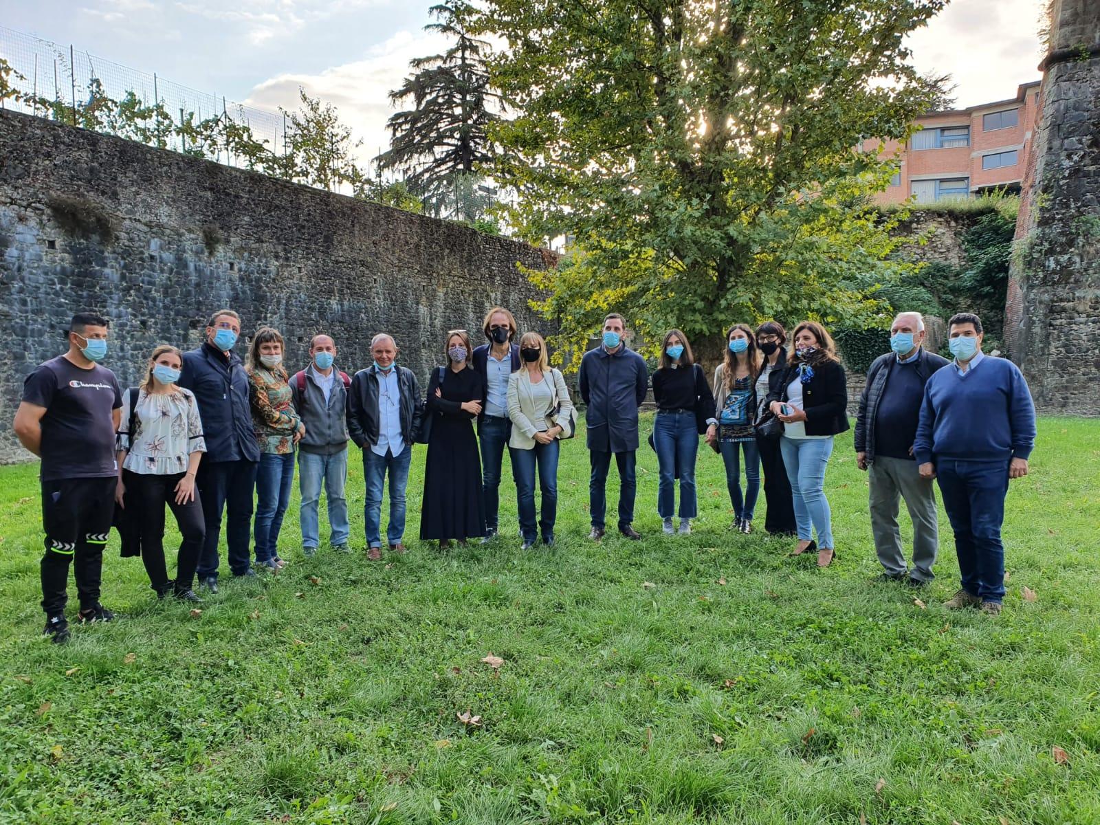 L'inaugurazione del Giardino in adozione a Pistoia, realizzato grazie al progetto Mef