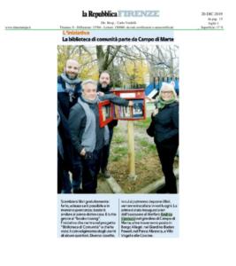 La Repubblica Firenze, 29 dicembre 2019