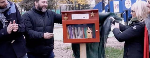 Giustizia riparativa e beni comuni: inaugurata casetta per scambio libri a Campo di Marte